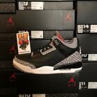 2018 NIKE AIR JORDAN RETRO 3 BLACK CEMENT LOT 854262-001 Sz: 4Y-17