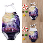 Kids Baby Girls Unicorn Animal Romper Jumpsuit Bodysuit Clothes Outfits Sunsuit