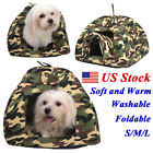 Camouflage Pet Dog Cat Doggy Puppy Bed Soft House Kennel Warm Cushion Basket Pad