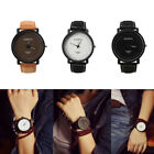 Men Women Fashion Watches Steel Case Leather Quartz Analog Couple's Wrist Watch