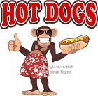 Hot Dogs DECAL (Choose Your Size) Monkey Concession Food Truck Vinyl Sticker