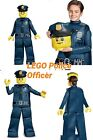 Boys' Lego Police Officer Prestige Deluxe Costume Small 4-6 / Large 10-12 New