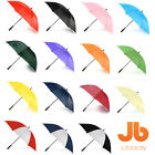 Plain Golf Umbrella White Black Red Green Orange Purple Pink Blue Navy Yellow