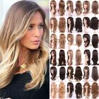 Uk Stock Women Full Head Hair Wig Real Natural Long Curly Wave Straight Ombre Aa