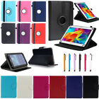 "For Samsung Galaxy Tab 2/3/4/A/E/S2 7~10.1"" Universal Plain Leather Case Cover W"