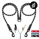 Braided Rope Reflective 2 Way Pet Dog Leads No Tangle for Two Double Dog Walking