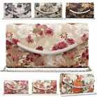 New Retro Floral Satin Lace Metal Trim Detail Ladies Wedding Clutch Bag