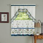 Achim Love Birds Printed Tier Curtain and Swag Set