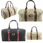 New Diamante Adornment Printed Canvas Designer Style Women's Duffle Bag