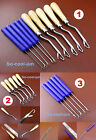 3kinds Leather Craft Crochet Needle Latch Hook Weave Hair Extension Tool Set NEW