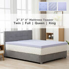2/3/4'' Twin Full Queen King Comfort Gel Memory Foam Mattress Topper Lavender image