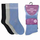 Ladies SK260 Cotton Rick Socks With Light Elasticated Top By Foxbury £2.99