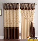 Panel Curtains Window Curtain Drapes W/ Valance For People's home Kitchen & Living Room