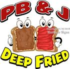 PB & J Deep Fried DECAL (Choose Your Size) Food Truck Concession Vinyl Sticker