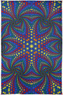 3D TAPESTRY-TWISTED RAINBOW SUNS-FREE 3D GLASSES-60X90