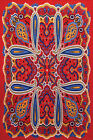 3D TAPESTRY-BRIGHT 80'S PAISLEY-Psychedelic-FREE GLASSES 60X90
