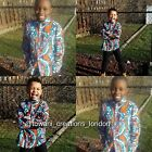 Towani Creations Orange Ankara African Print Men's Shirt Size M/L/XL/XXL