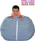 "Stuffed Animal Storage Bean Bag Chair 38"" Extra Large kids toys organizer gift"