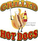 Grilled Hot Dogs DECAL (CHOOSE YOUR SIZE) Food Truck Concession Sticker