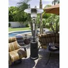 AZ Patio Hiland Tall Hammered Silver Patio Heater with Table