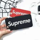 Supreme Phone Case Cover For iPhone X / 8/7/6 &Plus Cases Black Red Brand New ER