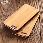 Original Natural Bamboo Real Wood Back Phone Slim Case Cover For iPhone Samsung