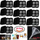 10xNew Round Ice Balls Maker Tray FOUR Large Sphere Molds Cube Whiskey Cocktails