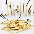 1 Pack metal gold bar nail art decorations bullion punk nails strips line tool