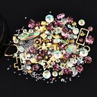 Mixed styles 3d nail art decoration rhinestones caviar beads frame accessoires H