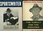 GRANTLAND RICE lot * Tumult & Shouting (1954) + Sportswriter by Charles Fountain