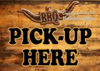 (Choose Your Size) Pick Up Here BBQ DECAL Food Truck Concession Restaurant Vinyl