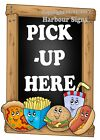(Choose Your Size) Pick-Up Here VINYL DECAL Snacks Food Truck Concession Sticker