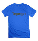 Men's Triumph Motorcycle Logo Old Emblem 100% Cotton Tees $17.42 CAD on eBay