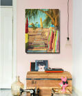 Beachside Boardwalk Stretched Canvas Print Framed Wall Hanging Home Office Decor