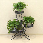3 Tier Classic Wrought Iron Flower Stand Innovative Craft Home Garden Decoration