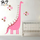 Dinosaur Height Measure Growth Chart Vinyl Wall Sticker Decal Cartoon Kids Home