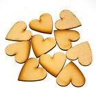 Wooden MDF craft hearts 50mm x 3mm pack of 10, 25, 50 or 100
