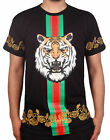 Men's Embroidered Tee with Tiger Print from Bleecker & Mercer
