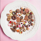50Pcs Fast food&Rilakkuma Squishy Charms Squeeze Slow Rising Toy Collection Gift