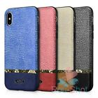 XOOMZ Splicing Shining PU Leather Back Cover Case Housing for Phone X