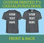 CUSTOM PRINTED PERSONALISED  T SHIRTS childrens child club party holiday fun