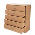 Wood Chest Of  Drawers Bedroom Furniture Solid Bedside Storage Cabinet Unit <br/> Anti-Bowing Drawer Support * Bedroom Redstone*Fast Ship