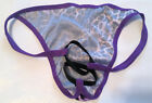 Men's Brief ENHANCER Thong PURPLE CAT Double Ring Intimates Male Exotic X165