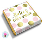 Personalised PINK & GOLD DOT Girl's Baby Shower Party Bag Favour Chocolates