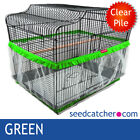 Multi Colour Size, Bird Cage Seed Catcher Guard Tidy Pile Fabric Skirt Style