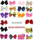 Girls Boutique Large Fashion Hair Bow Plain/Diamante Dance School Accessory