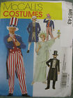 McCalls Sewing Pattern 6143 Adults Large Sam Tails Suit Top Hat Liberty Costume