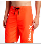 New HURLEY board shorts swim trunks solid dk red orange One Only 30 32 34 36 38