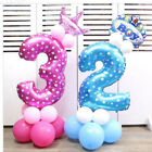 32 inch Number Foil Balloons Pink Blue Digit Helium Ballons Birthday Party Decor