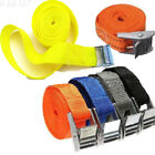 1pc Thick Webbing Cam Tie Down Strap CARGO Luggage Bag Belt With Metal Buckle 3M